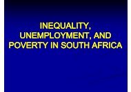 inequality, unemployment, and poverty in south africa - tips