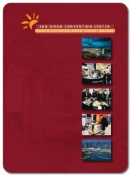 Exhibitor Booth Catering Menu