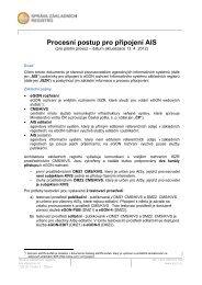 Procesní postup pro připojení AIS - Správa základních registrů