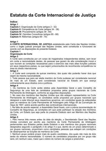 Estatuto da Corte Internacional de Justiça