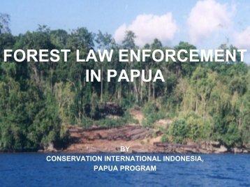 Illegal logging in Papua - Inece