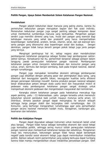 Bab-III fin - Pusat Sosial Ekonomi dan Kebijakan Pertanian ...
