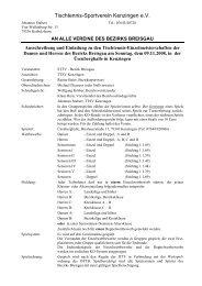 Ausschreibung Aktive - Tischtennis Bezirk Breisgau