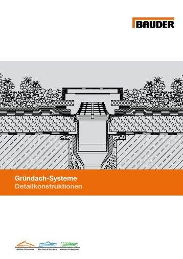 Gründach-Systeme Detailkonstruktionen