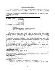 Medicația antituberculoasă, antivirale, antimicotice - OvidiusMD