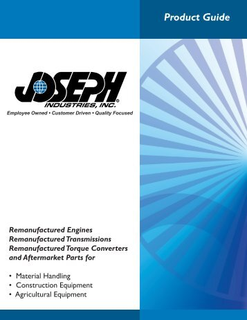 Product Guide - Joseph Industries, Inc.
