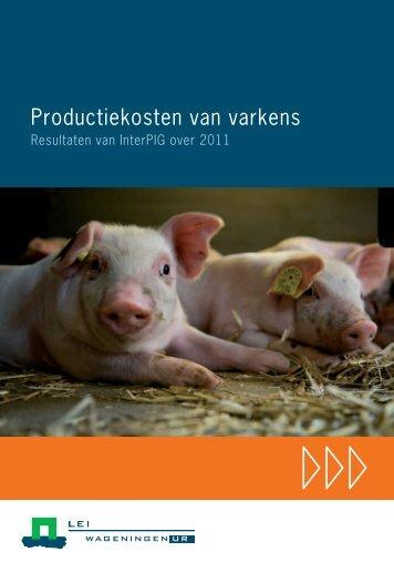 Productiekosten van varkens - Wageningen UR E-depot