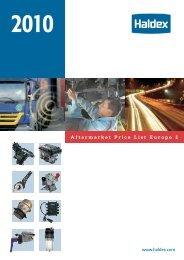 Aftermarket Price List Europe 2010 - Haldex