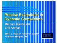 Precise Exceptions in Dynamic Compilation (CC 2002)