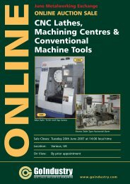 CNC Lathes, Machining Centres & Conventional Machine Tools  ...