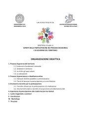 Calendario delle lezioni - Master di II livello in Esperti della ...