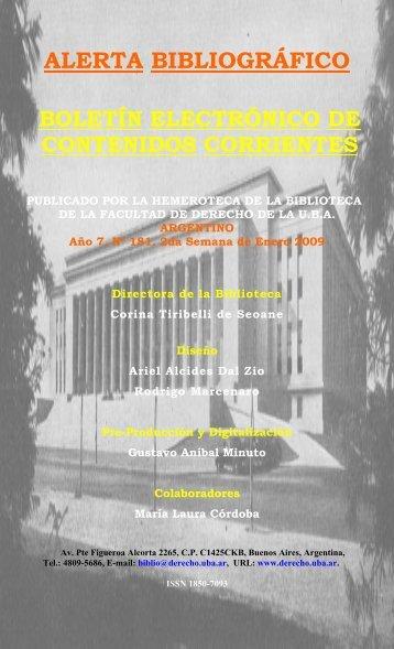 ANALES - Facultad de Derecho - Universidad de Buenos Aires