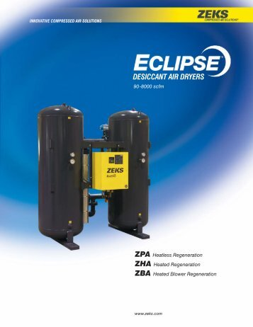 Eclipse™ Dryer Catalog - ZEKS Compressed Air Solutions