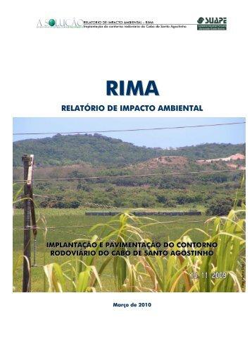 RELATÓRIO DE IMPACTO AMBIENTAL - CPRH