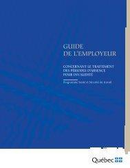 Guide de l'employeur concernant le traitement des périodes d ...
