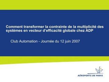 Voir le fichier pdf des présentations de la journée - L'automate ...
