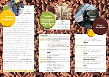Jornada Biomasa - Biobusiness. Business opportunities in biomass ...