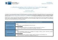 L'efficacité énergétique dans le bâtiment en France et en Allemagne