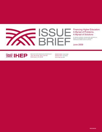 ISSUE BRIEF - Institute for Higher Education Policy