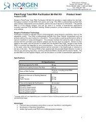 Plant/Fungi Total RNA Purification 96-Well Kit Product ... - Interchim