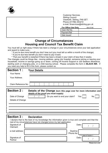 Change of circumstances form (PDF 261.32KB) - StudyLink