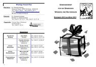 Dezember 2012 - März 2013 - Kirchspiel Wirberg
