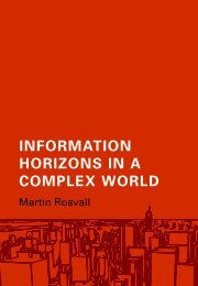 Information horizons in a complex world
