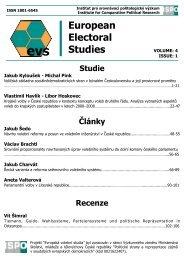 Download the whole issue in PDF format - Evropská volební studia