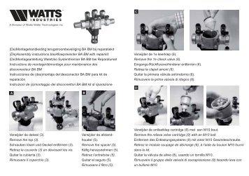 (De)Montagehandleiding terugstroombeveiliging BA BM bij ...