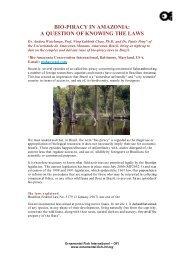 bio-piracy in amazonia - Ornamental Fish International