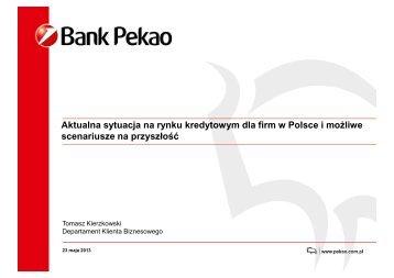 Aktualna sytuacja na rynku kredytowym dla firm w Polsce i możliwe ...