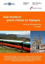 Voie étroite et grand vitesse en Espagne du 16 au 26 ... - SERVRail