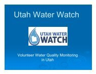 Can the Public Monitor Water Quality? Utah ... - Salt Lake County