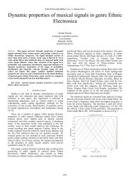 Dynamic properties of musical signals in genre Ethnic ... - Infoteh