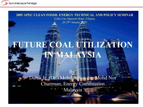 future coal utilization in malaysia - Expert Group on Clean Fossil ...