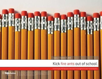 Kick fire antsout of school. - Backed By Bayer