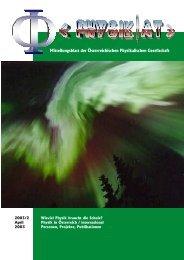 Mitteilungsblatt der Österreichischen Physikalischen Gesellschaft