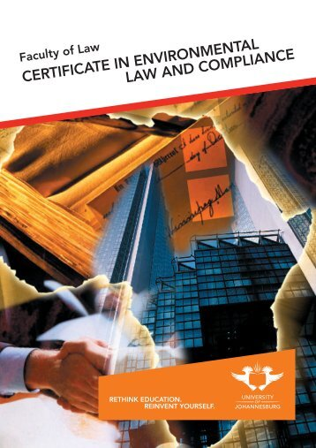 certificate in environmental law and compliance - University of ...