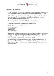 1 Allgemeine Informationen Für die Bereitstellung und Abrechnung ...