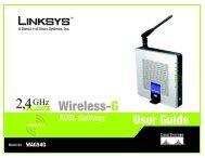 Wireless-G WAG54G User Guide - CCS (Leeds)