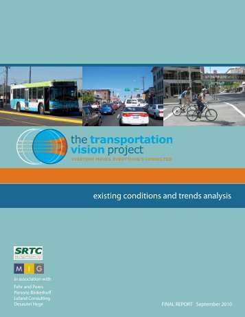 Existing Condtions and Trends Analysis Report - Spokane Regional ...