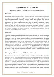 INTERVENTO AL CONVEGNO - Adofvg.it