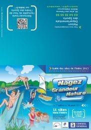 natation en milieu naturel - Conseil général de l'Indre