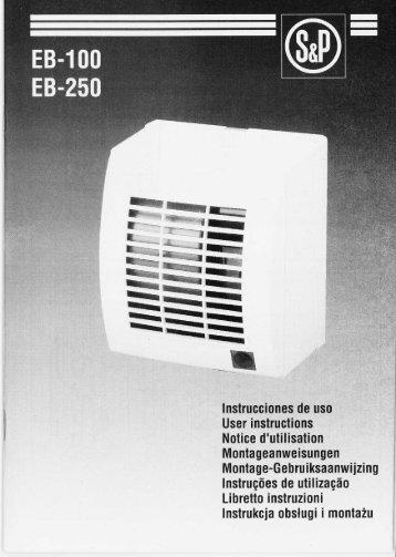 Istruzioni EB 100 / EB 250 - Soler & Palau