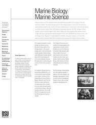Marine Biology - College of Science - Oregon State University