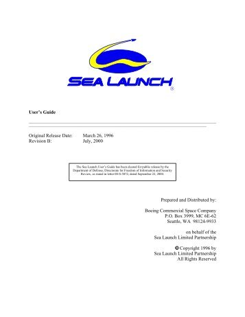 Sea Launch User's Guide