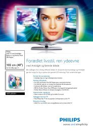 40PFL8505H/12 Philips LED-TV med Ambilight Spectra 2 og Perfect ...