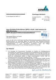 Neue Qualitäts-Prüfrichtlinien (QPR) in Kraft / Jetzt kommen ... - ABVP