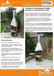Grillkamine von Feuerdesign 2010.Dpp - Decker