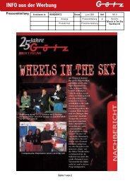 INFO aus der Werbung Pressemitteilung - Goetz-Motorsport